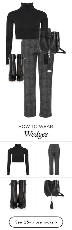"""""""Untitled #10249"""" by alexsrogers on Polyvore featuring Topshop, Boohoo, Givenchy and Yves Saint Laurent"""