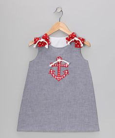 Take a look at this Navy Anchor Seersucker Jumper - Infant, Toddler & Girls by Wiggles and Giggles on #zulily today!