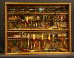 Fishing Lure Display Case by OakCollection on Etsy https://www.etsy.com/listing/96945765/fishing-lure-display-case