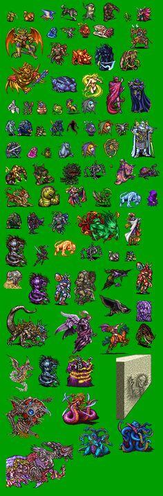cd84ad1bb2f cloud of darkness Video Game Sprites, 16 Bit, Rpg Maker, Enemies, Final