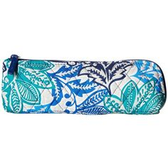 Vera Bradley Brush Pencil Case (Santiago) Wallet ($24) ❤ liked on Polyvore featuring home, home decor, office accessories, zipper pencil pouch, vera bradley pencil case, vera bradley, zip pencil case and vera bradley pencil pouch