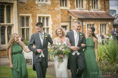 Bride, Groom and family at their Highgate house wedding venue.
