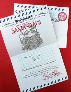 Homespun with Heart: Santa Stationery... by Danielle Flanders