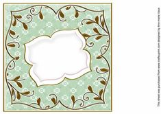 Mid Green Daisy Fancy 8in Insert Panel on Craftsuprint designed by Ann-marie Vaux - I have designed this insert panel for your 8x8in cards and to mix and match with many of my designs including my card fronts and stackers, or use them with any of your projects. Simply cut out and attach using flat glue to the inside of your card. Lots of colour choice available, please check the multi link to see them. - Now available for download!