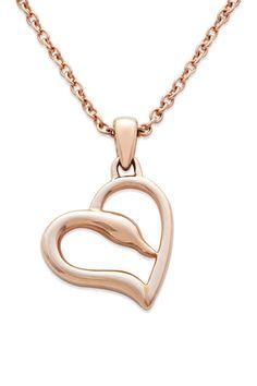Swarovski | 14K Rose Gold Swan Heart Pendant Necklace | Nordstrom Rack  Sponsored by Nordstrom Rack.