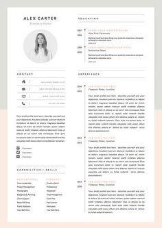 Modern Resume Template Cover Letter Icon Set Door OddBitsStudio