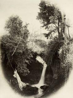 Jiuniso cascade, Japan. Photo taken in the 1870's, Japan, by photographer Felice Beato.