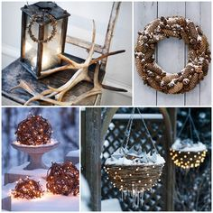 Wood. Whether it's cut logs, tiny branches or a stack of firewood, wood brings a wonderful element to your home. Whether you burn the wood daily or you use it just for decoration, it adds a lot of wintry character.