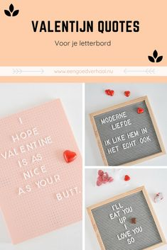 10 x Valentijn quotes (oa. Boyfriend Crafts, Flower Quotes, Marianne Design, Crochet Patterns For Beginners, Valentine's Day Diy, Learn To Crochet, Be My Valentine, Letter Board, Christmas Diy