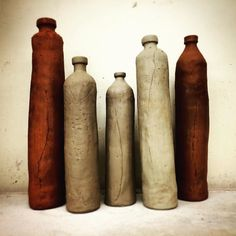 Noticing 1/3: shapely nudes . #Repost @mmylchreest  A surly looking lineup... #claystudioofmissoula work in progress  getting ready for the anagama... T-minus 1 month! . #greenware #greenwareceramics #anagama #anagamakiln #noticingceramics #claylife #loveceramic #ceramicsaretrending #contemporaryceramics #contemporaryclay  #modernceramics #instapottery #pottersofinstagram #ceramiclife #ceramicsdaily #handmadeceramics #handbuiltpottery #handbuiltceramics