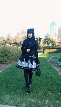 BunnyChrystina // gwynium: This was my coordinate for Animaga. Gyaru Fashion, Kawaii Fashion, Lolita Fashion, Gothic Fashion, Kawaii Goth, Kawaii Style, Girl Dj, Goth Subculture, Japanese Street Fashion