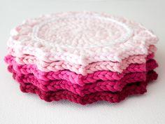 DIY Crochet Ombre Coasters
