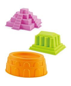 These are the cutest! Parthenon, Mayan Pyramid & Colosseum Beach Toy Set