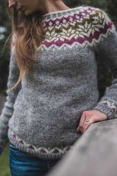 Baby Cardigan Knitting Pattern Free, Fair Isle Knitting Patterns, Knit Patterns, Fair Isle Pullover, Icelandic Sweaters, Fingerless Gloves Knitted, Sweater Design, Ravelry, Knitwear