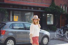 White Blouse on Shorts