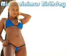 Kimberly - MICROMINIMUS TURNS TWO!    To celebrate this event we are offering microminimus members an exclusive birthday bikini available at a special price.