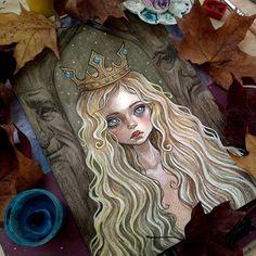 #art #illustration #forest #princess #fantasy #fantasyart #faerytale #watercolor #blackfury