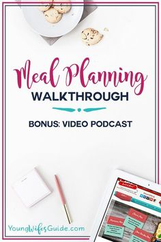 Meal planning saves