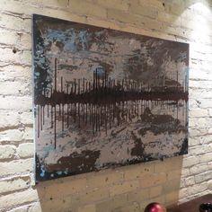 "Abstract Art ""Distant Island"" Acrylic on Canvas 36"" x 24"" $225.00"