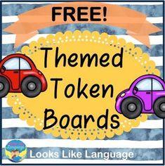 Themed Token Board Freebies- Looks-Like-Language Classroom Freebies, Classroom Behavior, Autism Classroom, Token Economy, Difficult Children, Behavior Interventions, Behavior Plans, Hairstyle