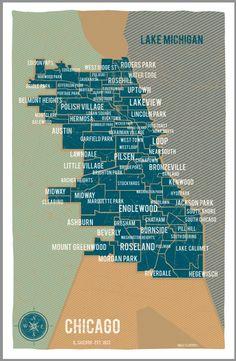$30.00 #Chicago #map