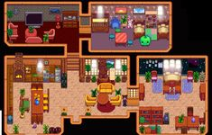 Actually love my house : StardewValley Stardew Valley Layout, Stardew Valley Tips, Stardew Valley Farms, Valley Game, Stardew Valley Fanart, Star Valley, Farm Layout, Green House Design, Video Games Girls