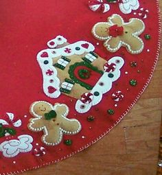 pinterest tree skirts | Felt Gingerbread Tree Skirt