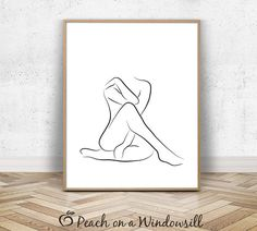 Nude Abstract Art Female Figure Sketch Modern Naked Woman Drawing Body Outline Print Black White Minimalist Line Art Printable Body Drawing, Woman Drawing, Drawing Women, Figure Sketching, Figure Drawing, Body Sketches, Art Sketches, Sketch Drawing, Body Outline