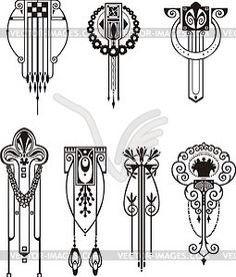 Art nouveau sternum tattoo