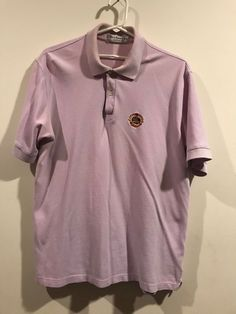 01b48b58 Vintage Burberrys Short Sleeve Lilac Color Polo Shirt Size L - Made in  England #fashion