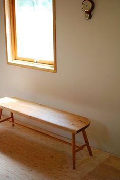木組みのベンチ 自然塗料