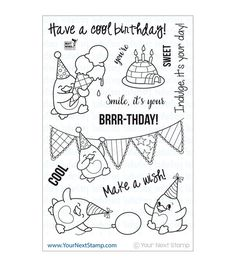 Decorate your paper craft projects with whimsical, fun images using the Your Next Stamp Clear Stamps. This beautiful stamp set comes with several clear stamps on a single backing sheet. Designed from