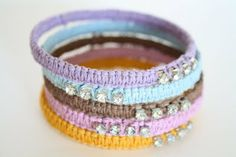 Anthropologie Terre Scintilla Bracelet Knock-off Tutorial!  Love this!!!!