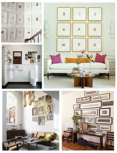 Gallery Wall Inspiration.