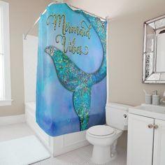 Little Mermaid Bathroom, Mermaid Bathroom Decor, Mermaid Bedroom, Bathroom Ideas, Disney Bathroom, Mermaid Shower Curtain, Mermaid Tails For Kids, Mermaid Fin