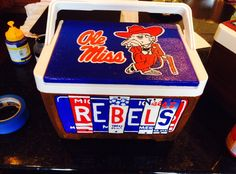 Ole Miss Cooler I made for a Grad present!