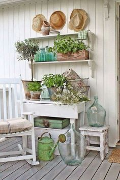 Pastels and white vintage
