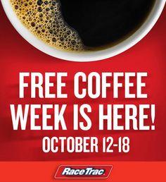 RaceTrac $$ FREE Cup of Coffee Week!