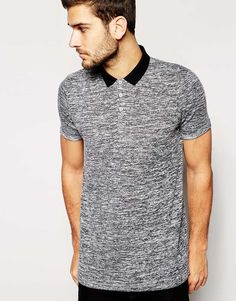 ASOS Polo Shirt In Loose Knit With Roll Sleeve