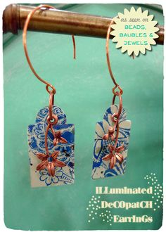 Illuminated Decopatch Earrings