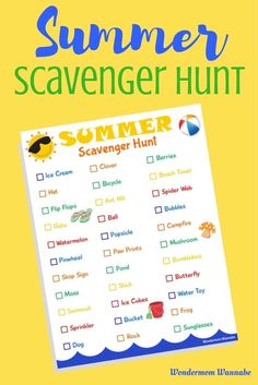 This summer scavenger hunt is a fun and easy way to keep the kids busy outside during summer break!