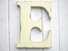 Cottage Wedding Wooden Letter Initial E Shabby chic White Wall Hanging Kids Wall Decor Rustic Cabin Country Cottage Dorm Decor