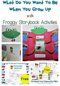 What Do You Want To Be When You Grow Up with Froggy Storybook Activities - Enchanted Homeschooling Mom