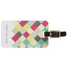 Dive Into Color Travel Bag Tag