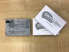 Diseño de tarjetas de visita de Ortoleku.