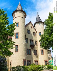 Snow White Castle In Lohr Am Main In The Spessart Mountains ...