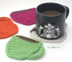Starbucks Core Coffee Series and Crochet Coffee Coasters