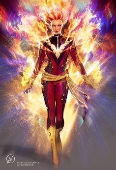 X-Men: Dark Phoenix - Jean Grey by Lukas Werneck * Archie Comics, Arte Dc Comics, Marvel Comics Art, Marvel X, Marvel Heroes, Dc Vs Marvel Characters, Captain Marvel, Dark Phoenix, Phoenix Marvel
