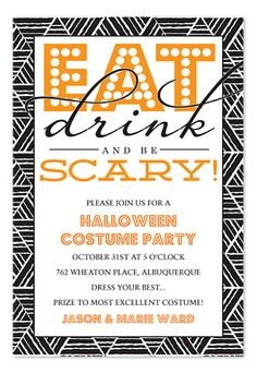 eat drink scare halloween party invitation - Halloween Party At Work