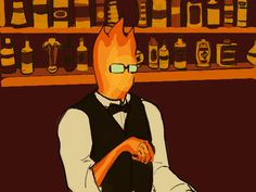 Grillby - gif - Never Gonna Give you Up parody